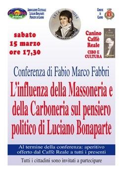 Luciano Bonaparte massone e carbonaro? I segreti del Principe di Canino in conferenza