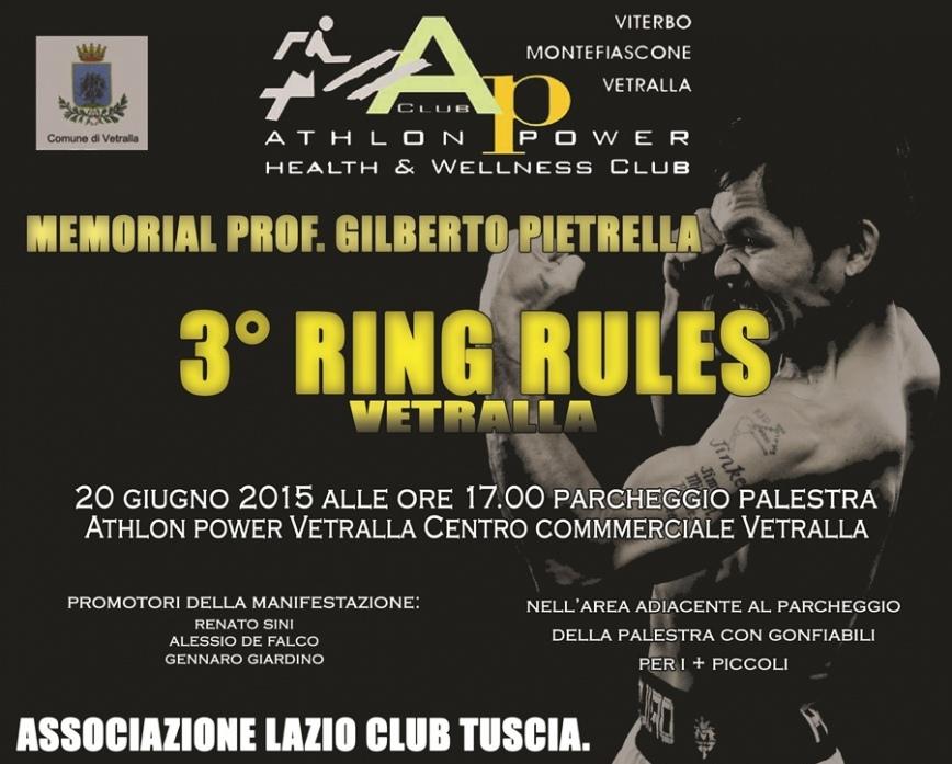 """""""Ring Rules"""", pugilato e non solo per una serata all'insegna dello sport"""