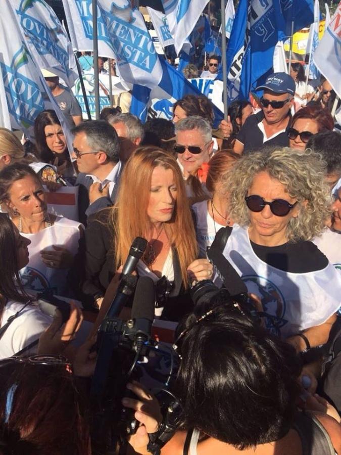 Il Partito Animalista di Viterbo con la Brambilla alla manifestazione nazionale di Roma