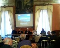 A destra: il rettore Alessandro Ruggeri, accanto Giuseppe Nascetti