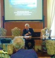 Giuseppe Nascetti alla presentazione dello studio sul lago di Vico